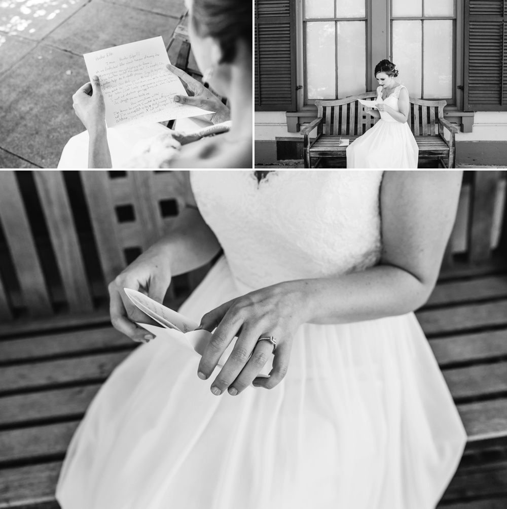 Bride and Groom Love Notes Before Ceremony