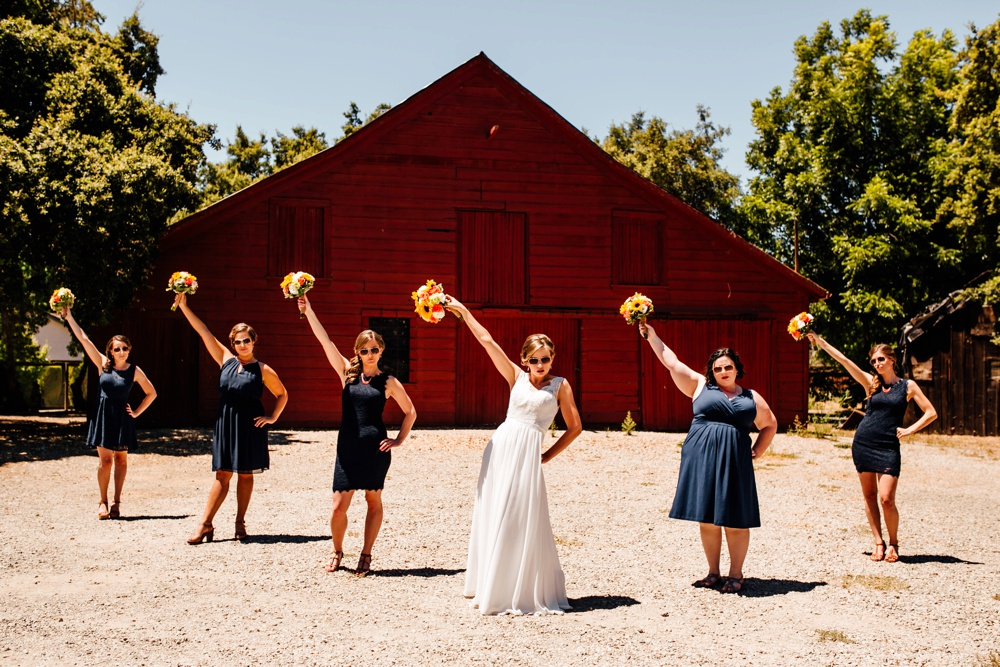 Red Barn Bridesmaids Shinn House Wedding Photographer