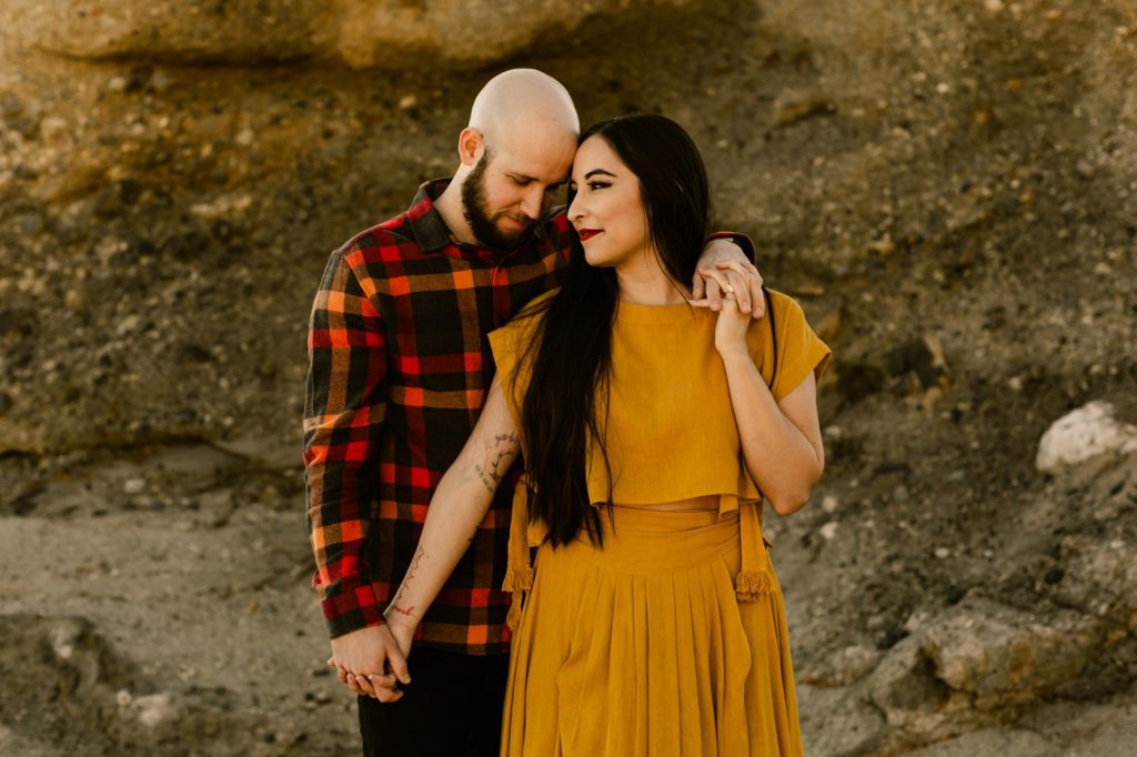 Aliso Creek Beach Engagement Photographer Yellow Anthropologie Dress