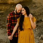 Aliso Creek Beach Engagement Photographer Yellow Anthropologie Dress