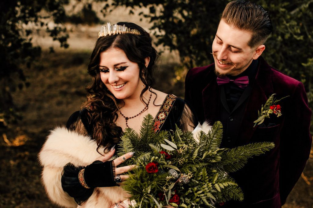 Dark and Moody DIY Pagan Vegan Wedding Photographer