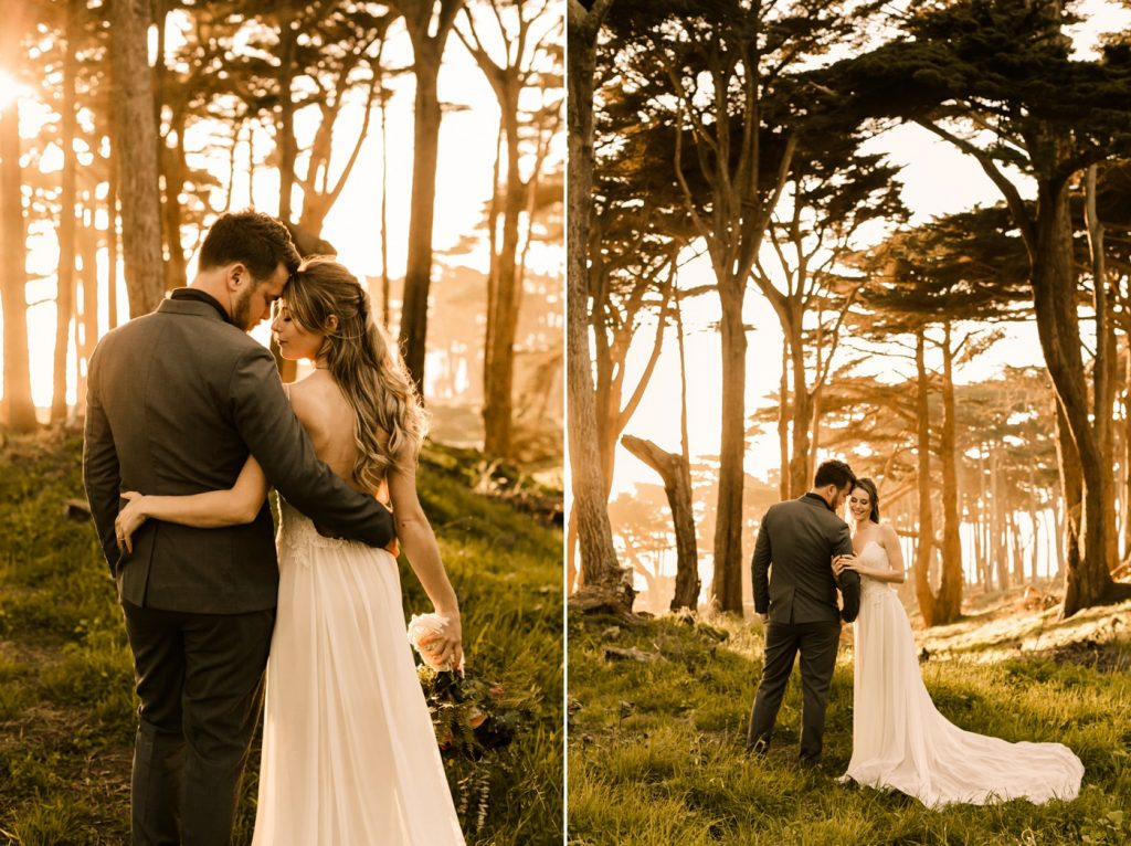 Romantic Sunset Lands End San Francisco Photographer