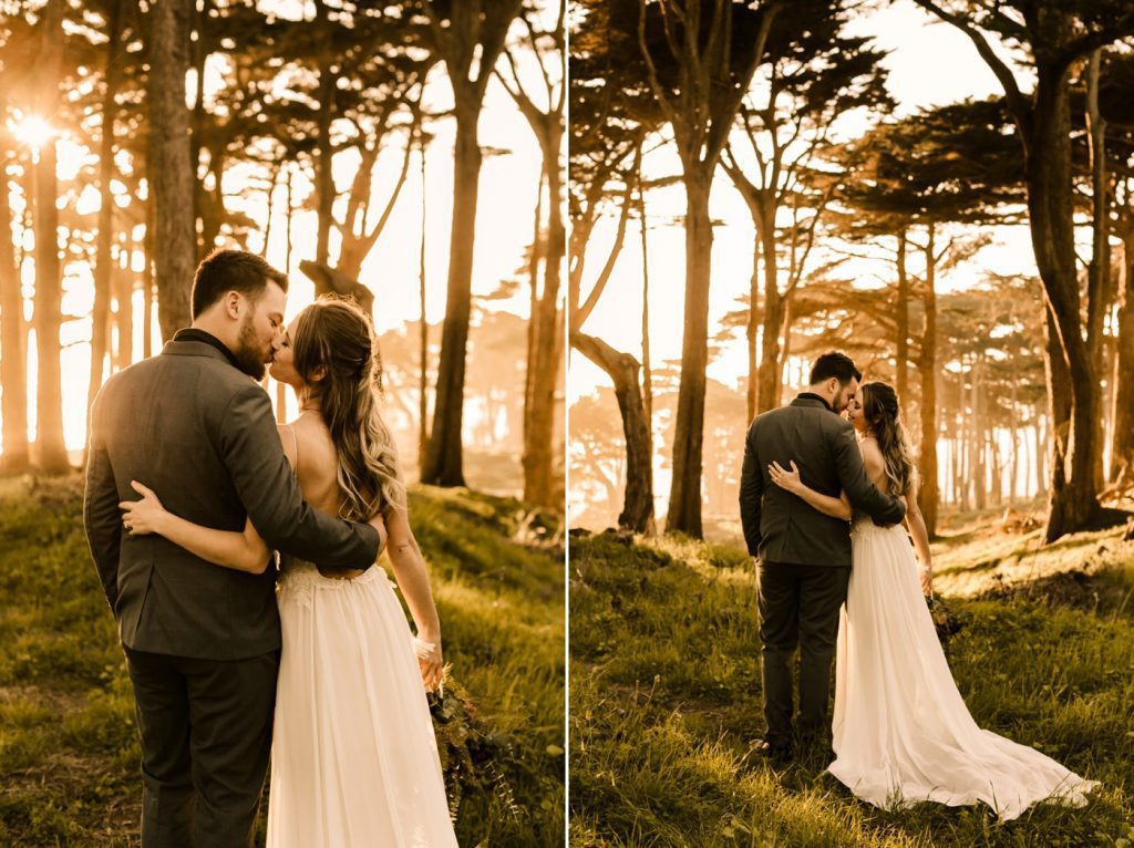 Romantic Lands End Elopement Photographer Claire Pettibone Gown