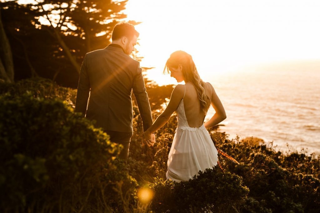Sunset Romantic Lands End Elopement Photographer Claire Pettibone Dress