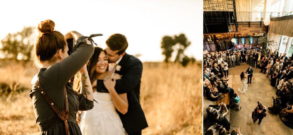 Wedding photographer behind the scenes photos on wedding days Seattle, WA