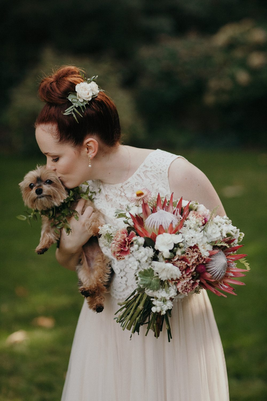 Dog Flower Girl Wedding Day PNW Photographer
