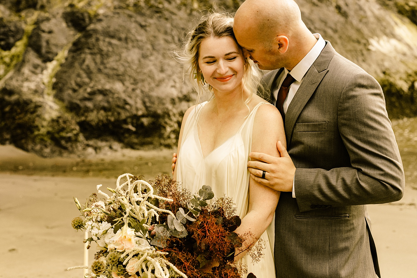 Wildflower beach elopement inspiration