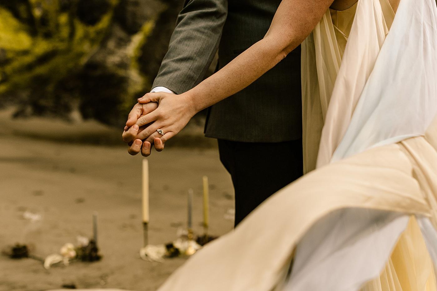 Unique wedding details ring photo