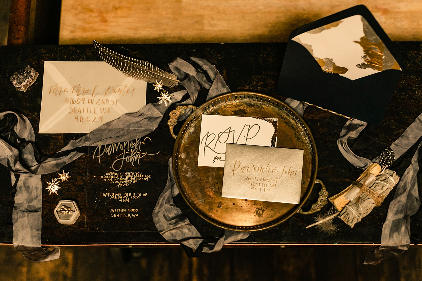 Star and moon celestial invitation suite inspiration