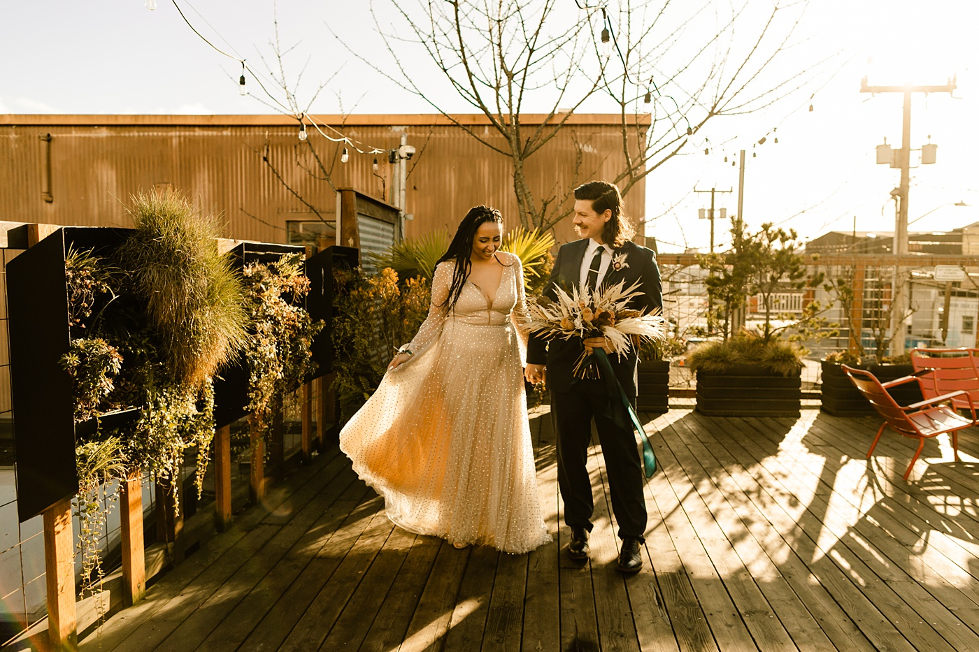 Withinsodo wedding photographer rooftop photos sunset photography