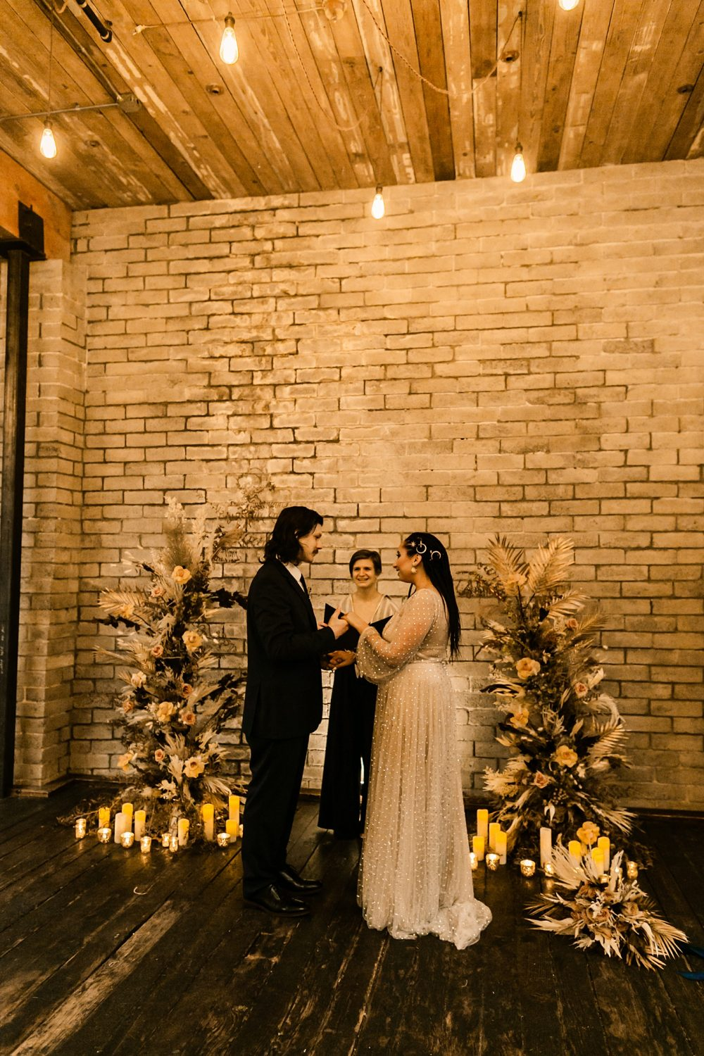 intimate elopement wedding officiant indoor venue downtown seattle