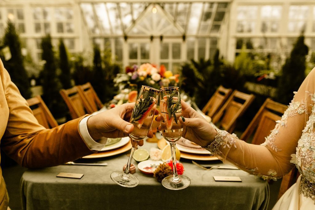 Christiansons Nursery Wedding Photographer greenhouse elopement inspiration