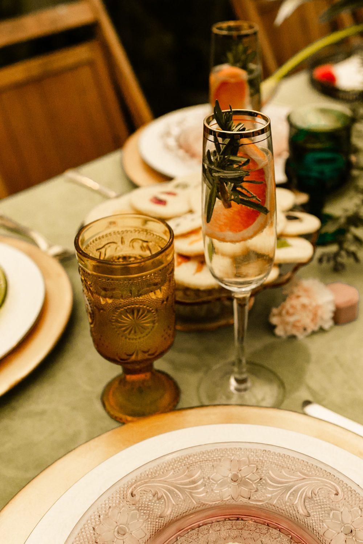 Vintage glassware wedding rentals Seattle