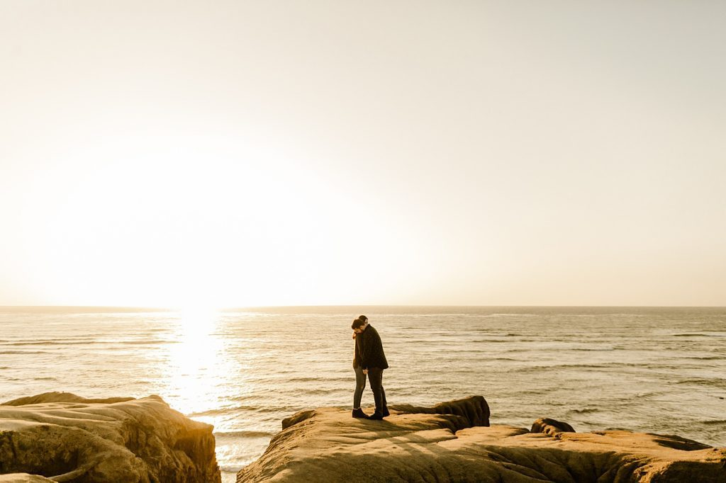 Sunset southern california engagement photographer