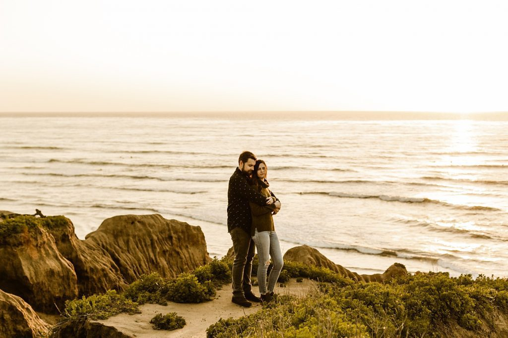 adventurous engagement session california