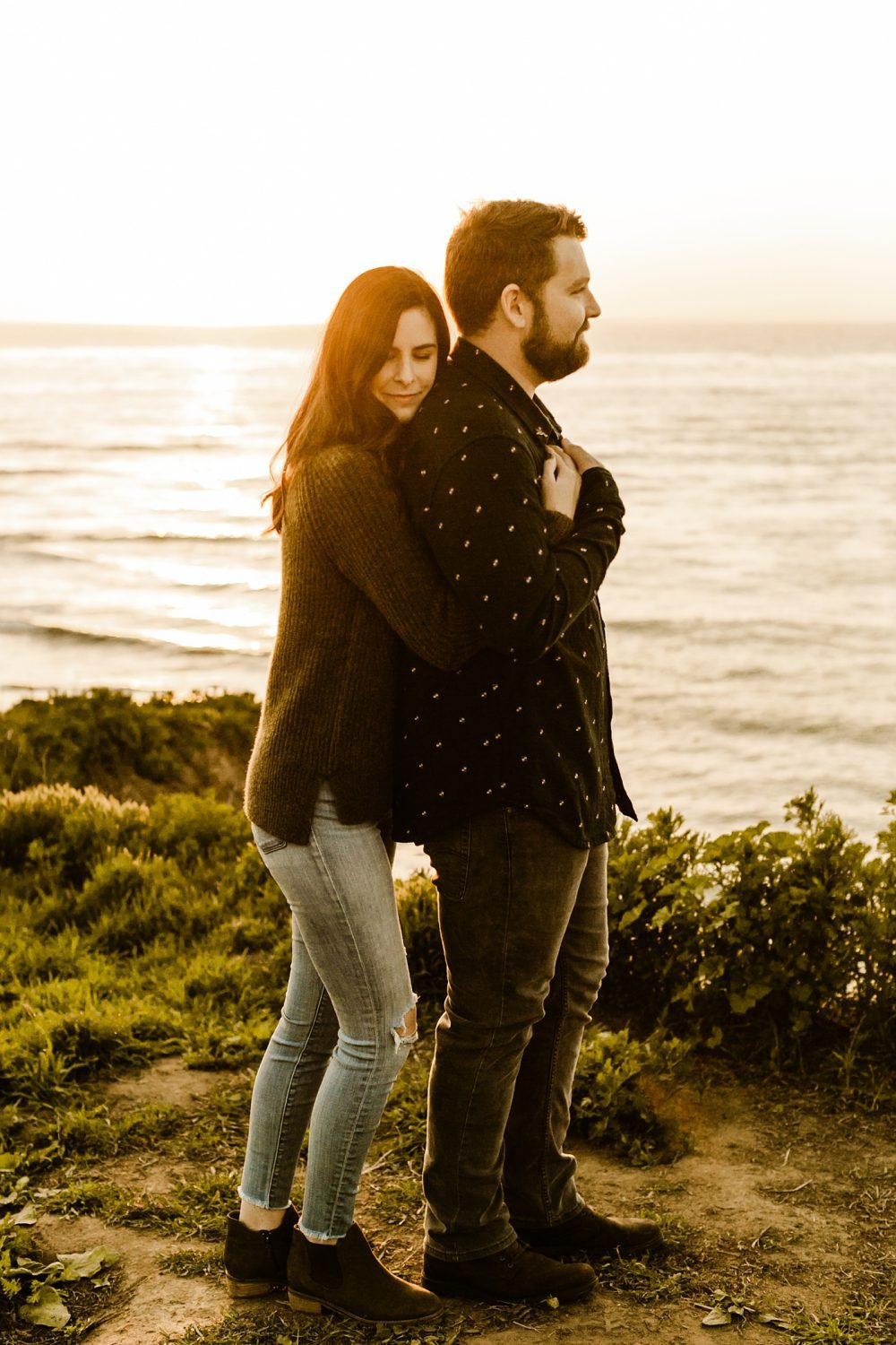 Sunset engagement photos california photography