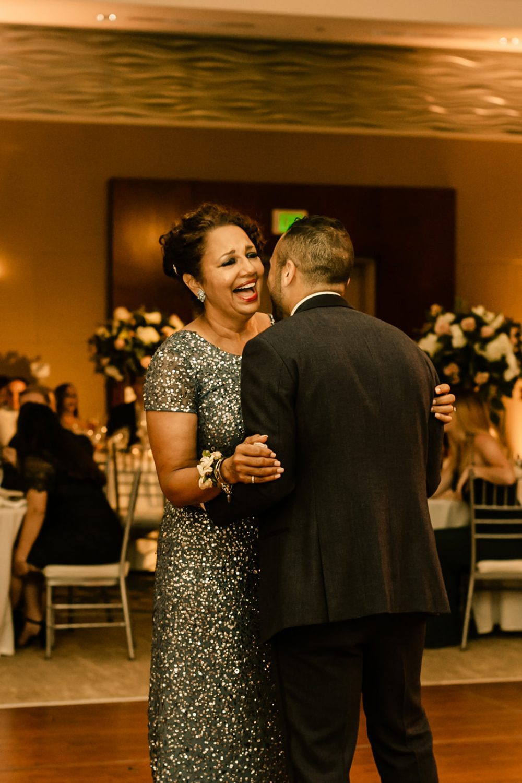 Mother son dance wedding photographer san diego