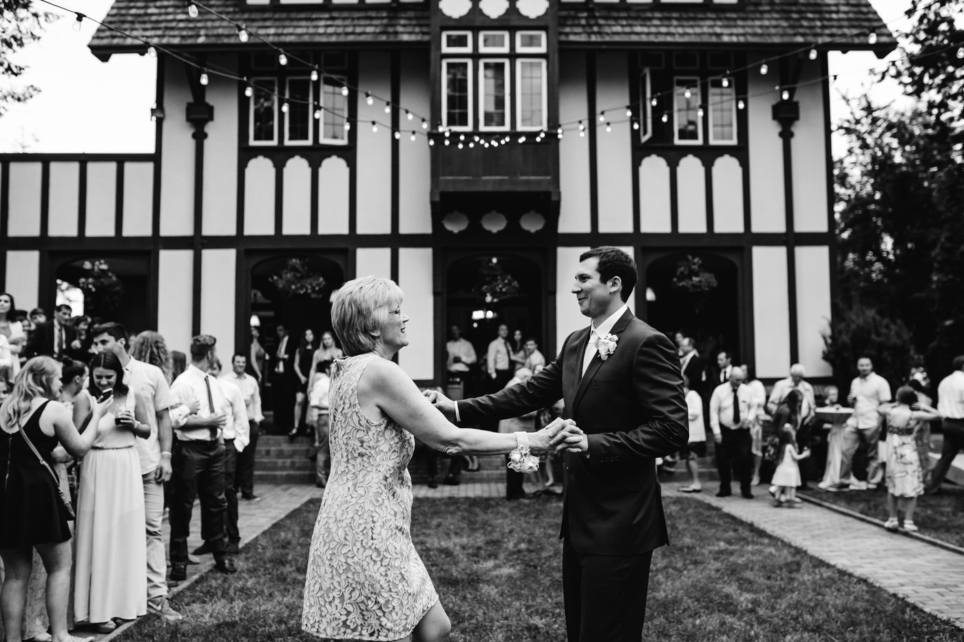 Mother son dance reception bozarth mansion