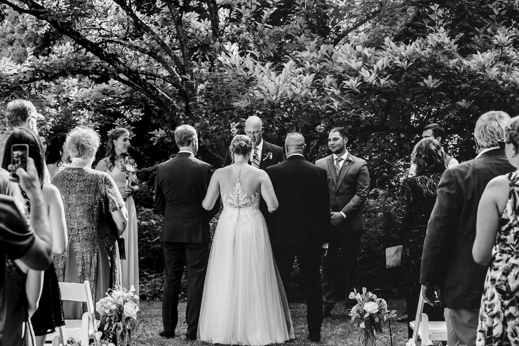 Ceremony bride walks down with both dads, should I have a first look on my wedding day?