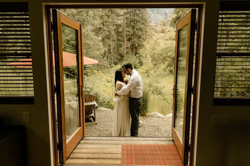 elope out in the mountains in the backyard of your airbnb