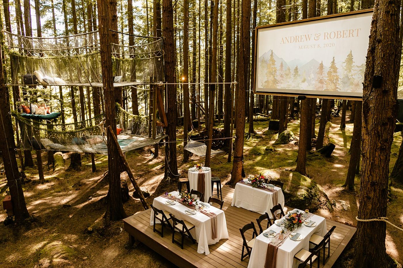 micro wedding table setup for household guests Washington Micro Wedding