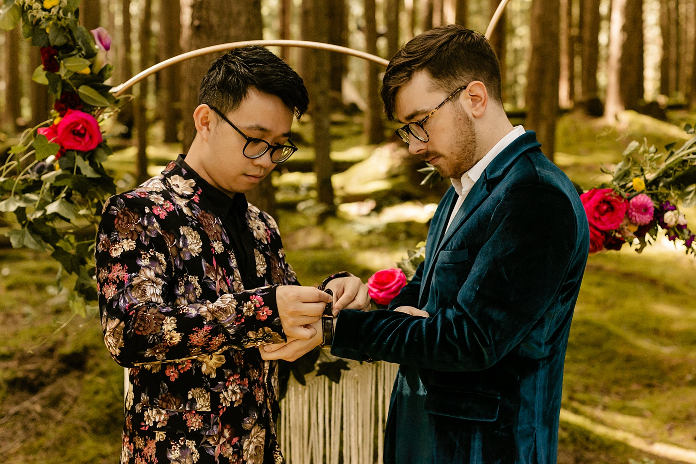 unique ceremony ideas exchanging watches instead of rings
