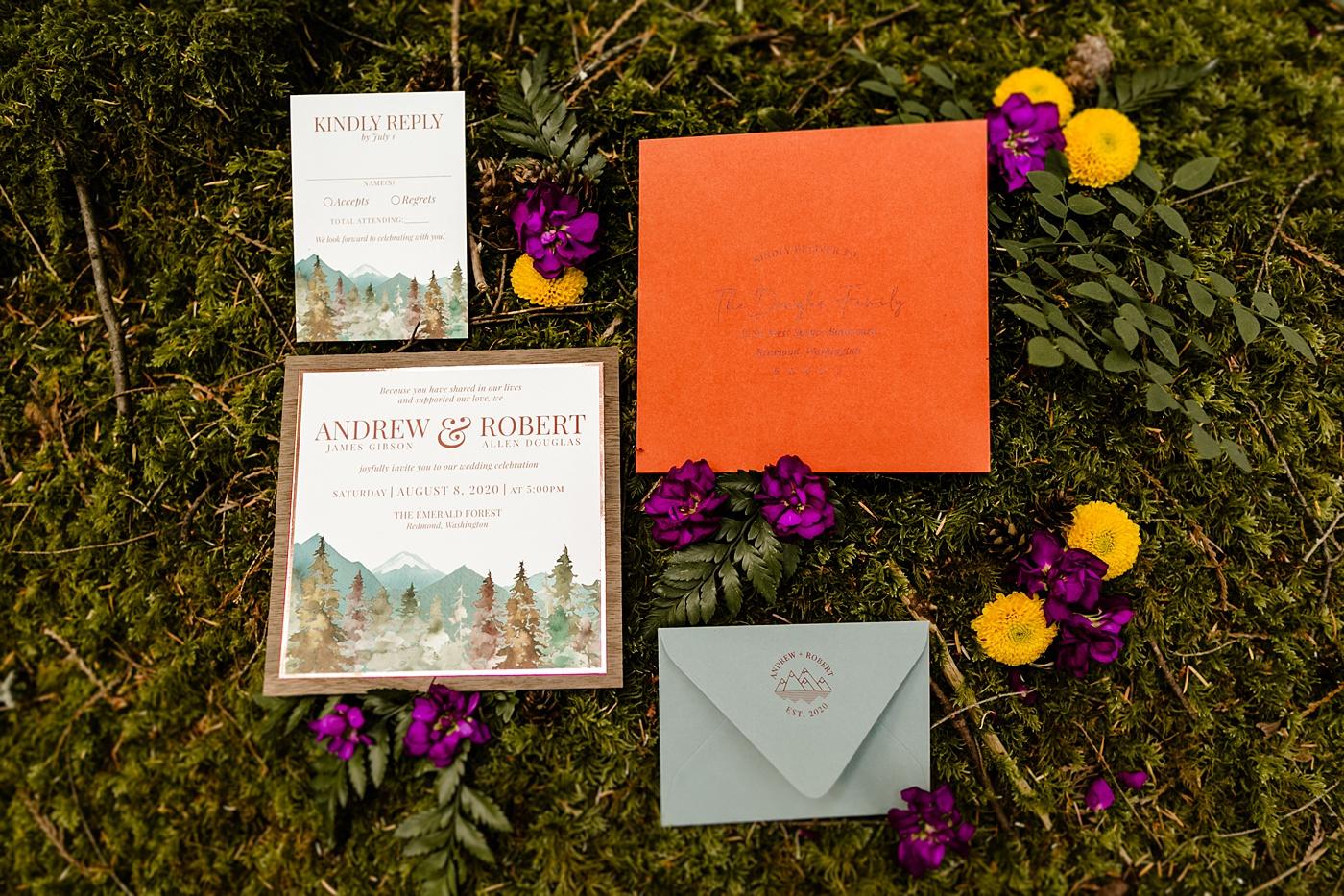 impress ink designs forest invitation suite color
