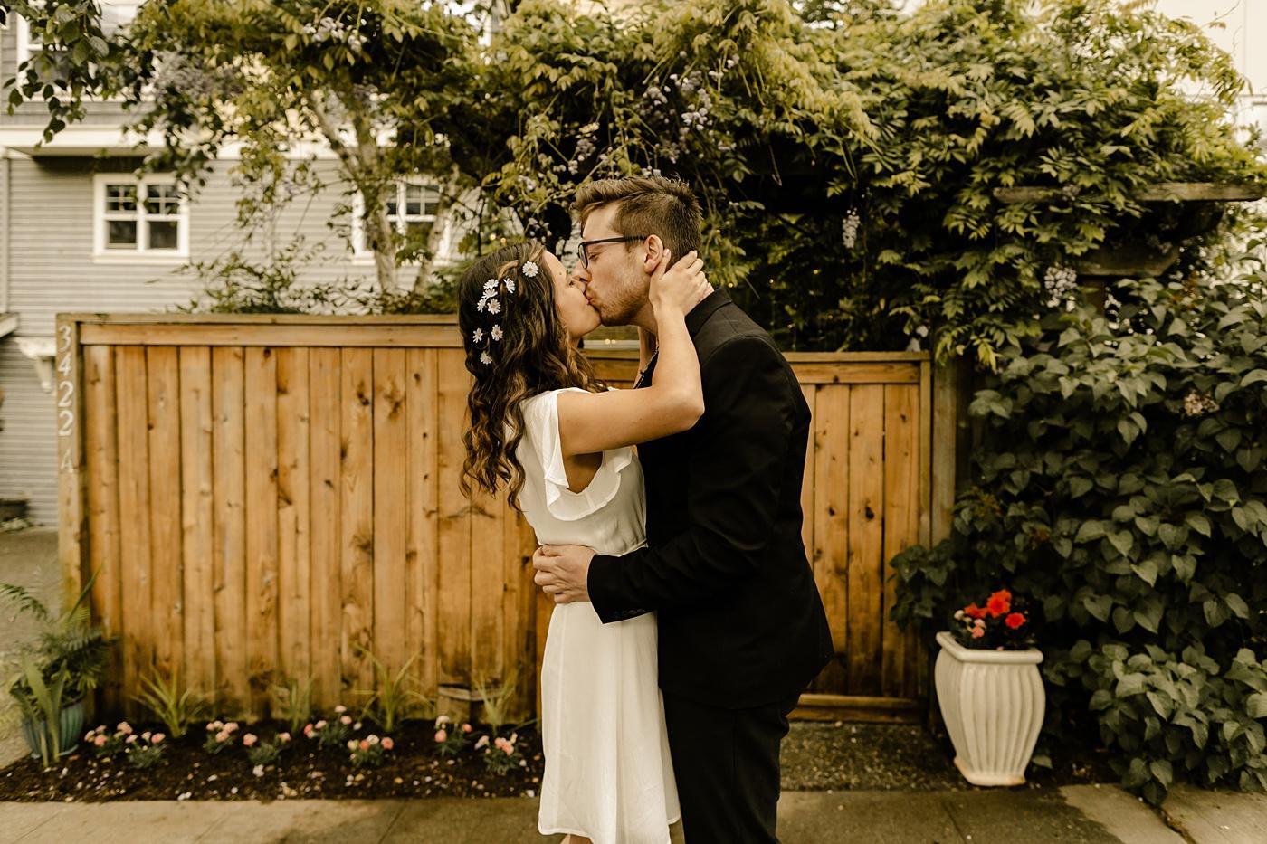 backyard micro wedding in the pacific northwest