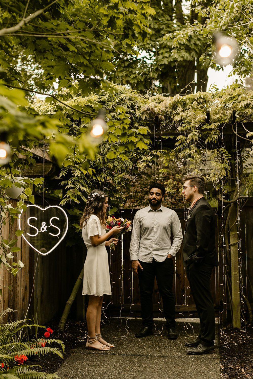 backyard wedding in the PNW