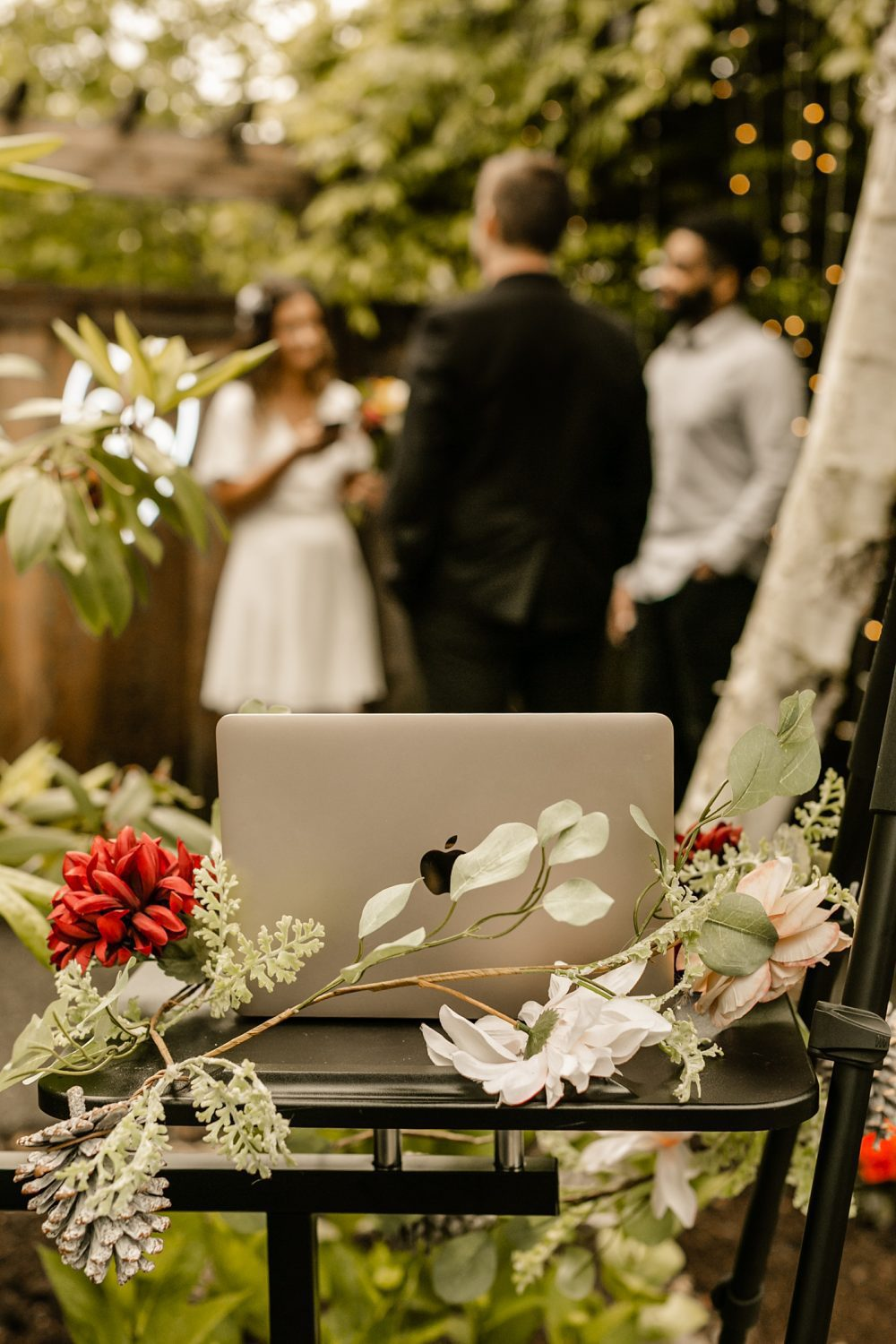 what does a social distanced zoom wedding ceremony look like