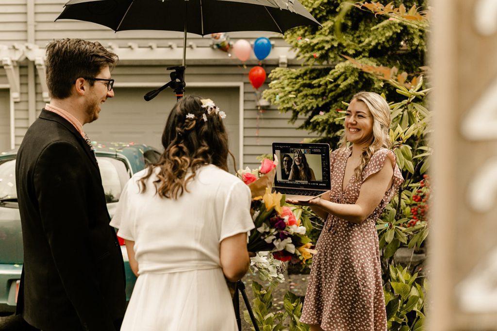 Zoom wedding photographer