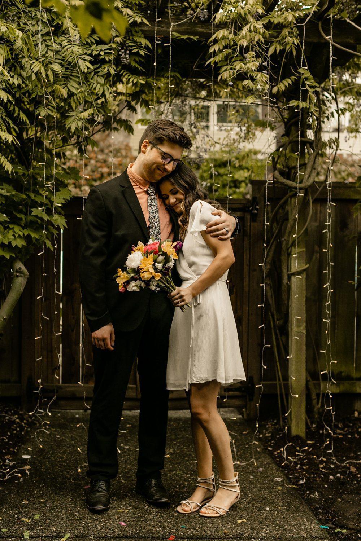 backyard elopement couples portraits