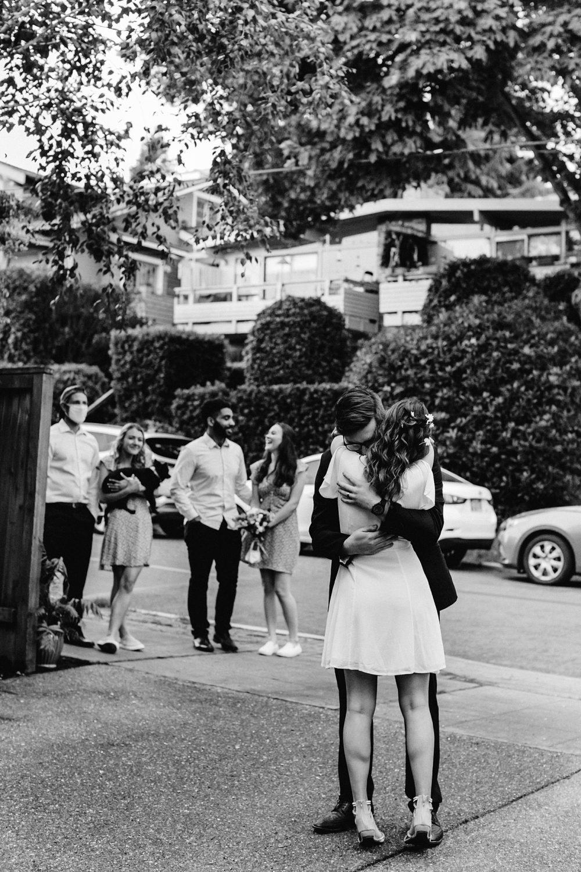 backyard wedding ideas, first dance in the driveway