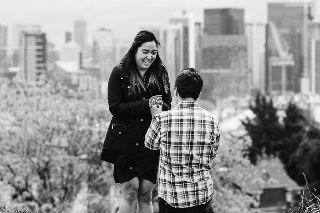 seattle proposal photographer candid
