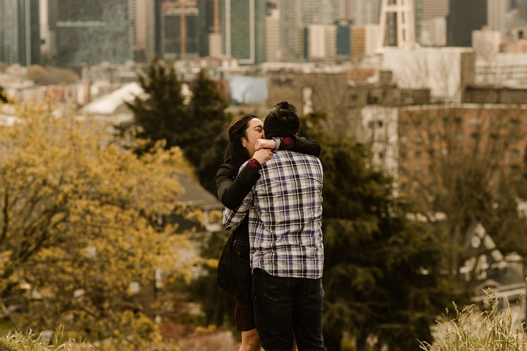 engagement photos in the city washington state