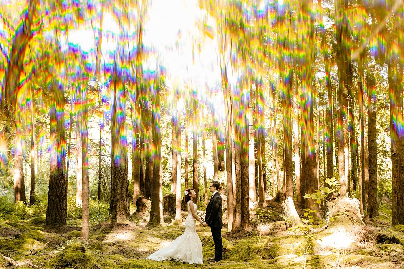 How To Choose The Best Wedding Vendors, unique wedding photo idea, prism, seattle elopement photographer, emerald forest