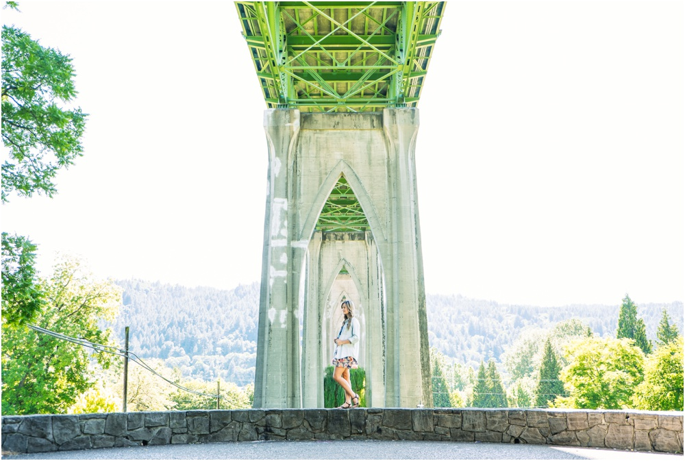 Senior Portrait Photographer Portland Oregon Vintage Roosevelt High School St Johns Bridge Abandoned Building Photography
