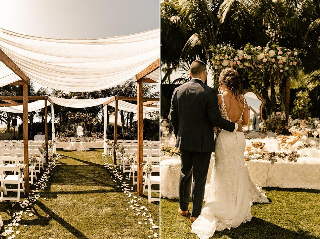 Cape Rey Carlsbad Wedding Photographer Sofreh table