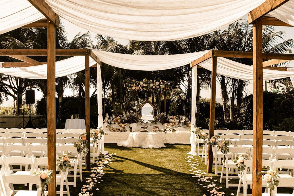 Cape Rey Carlsbad Wedding Photographer Sofreh table ceremony