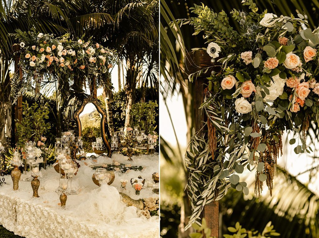 Ceremony details, sofreh table and florals