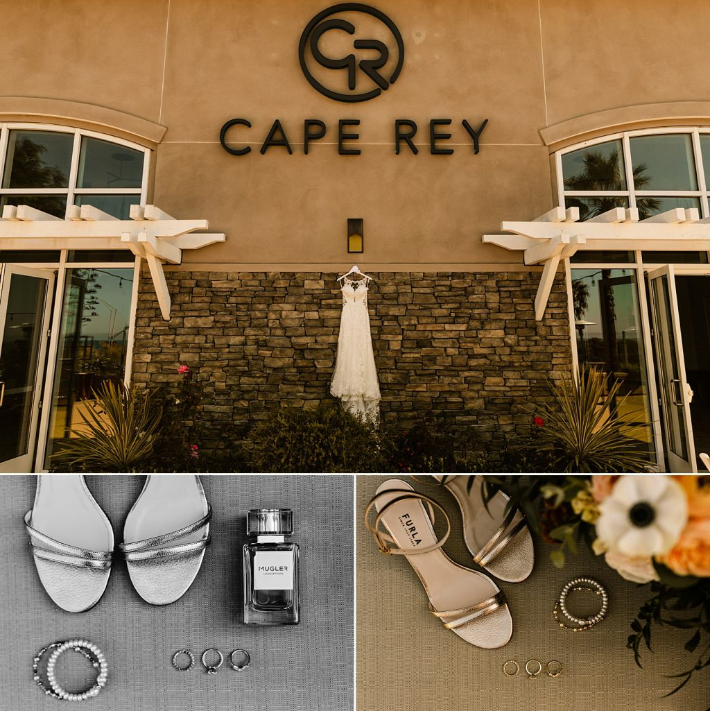 Cape Rey Carlsbad Wedding Photographer dress and detail photos for bride