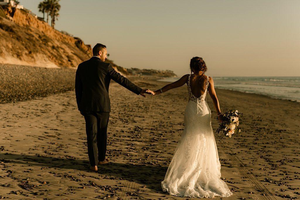 Cape Rey Carlsbad Wedding Photographer sunset beach portraits