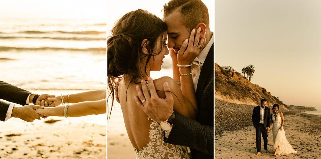 Wedding photo inspiration and poses, San Diego beach wedding photographer