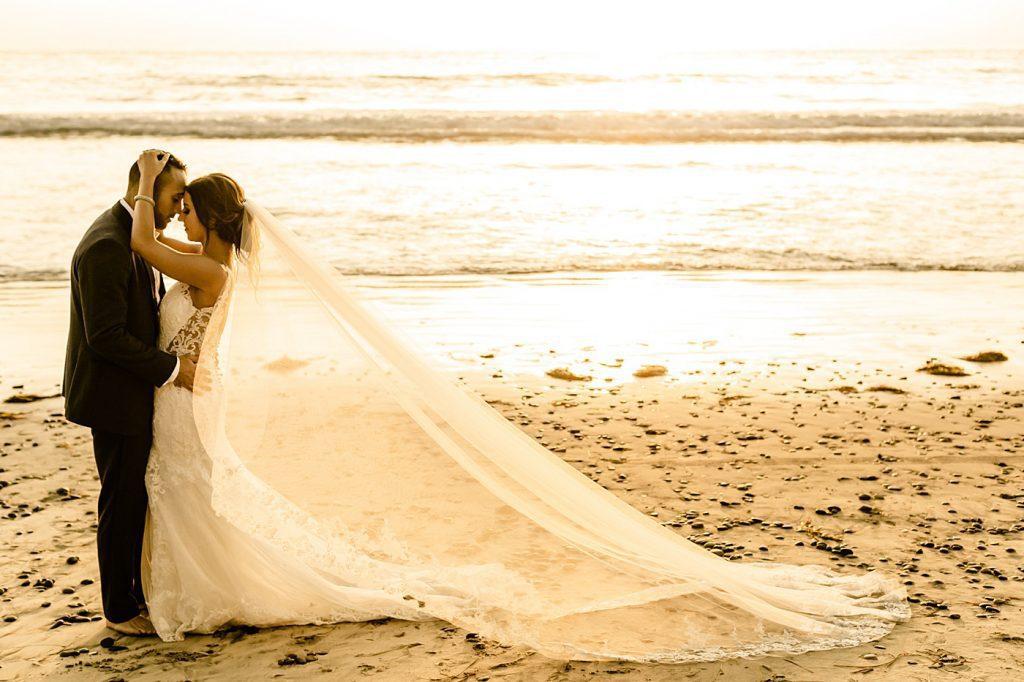 Sunset beach, Cape Rey Carlsbad Wedding Photographer