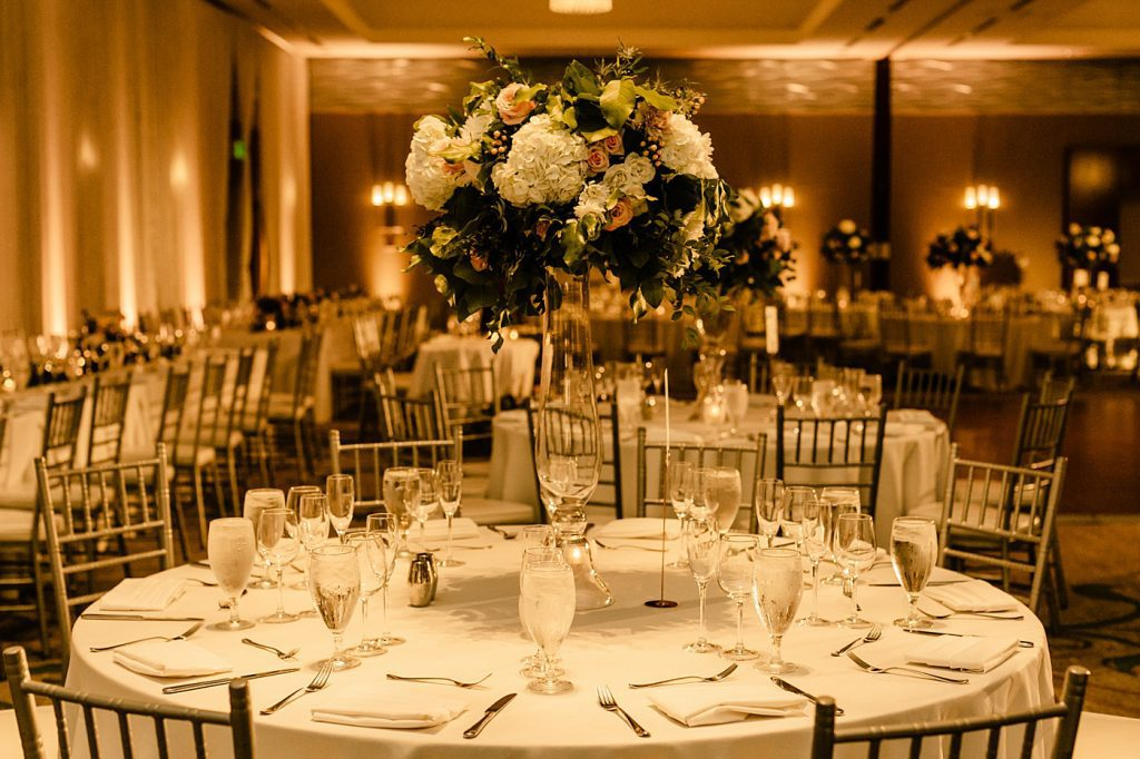 Cape Rey Carlsbad Wedding Photographer, floral and table settings