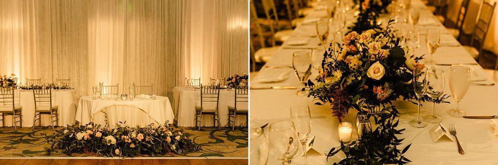 Cape Rey Carlsbad Wedding Photographer reception table set up