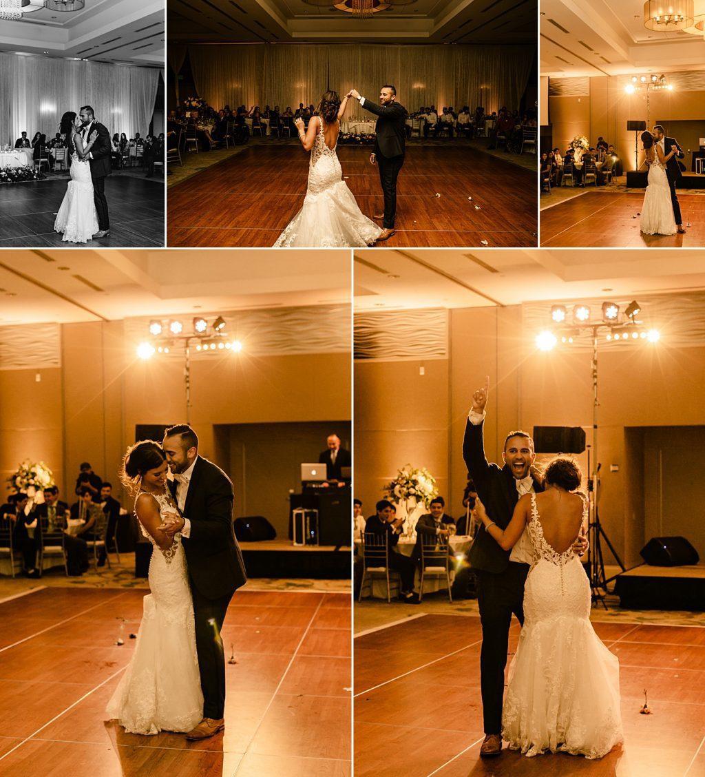 Cape Rey Carlsbad Wedding Photographer, first dance, candid reception wedding photography