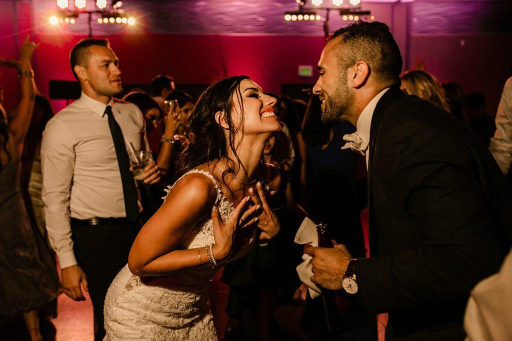Cape Rey Carlsbad Wedding Photographer reception dancing photos bride and groom