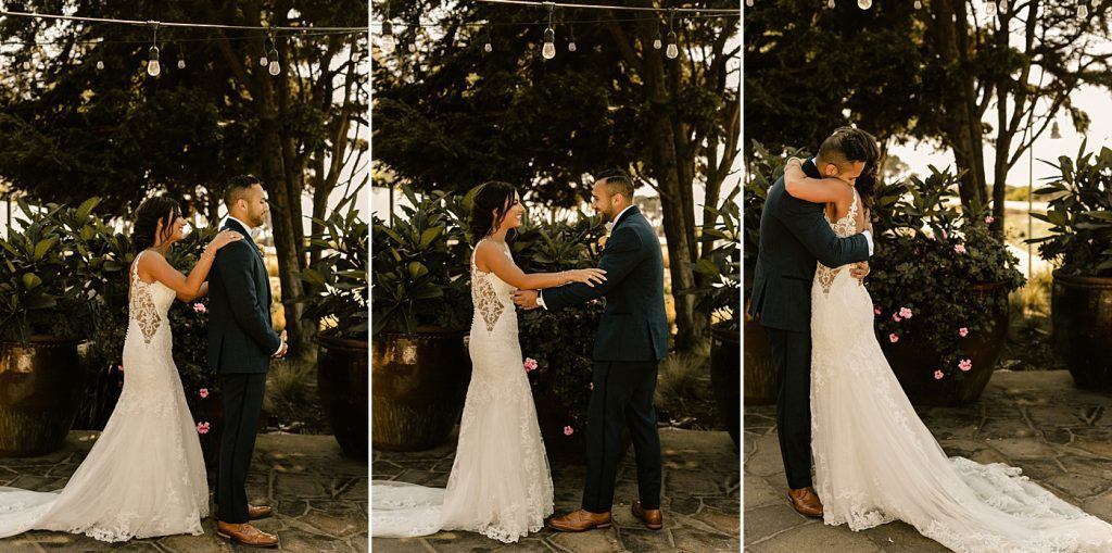 Cape Rey Carlsbad Wedding Photographer first look bride and groom
