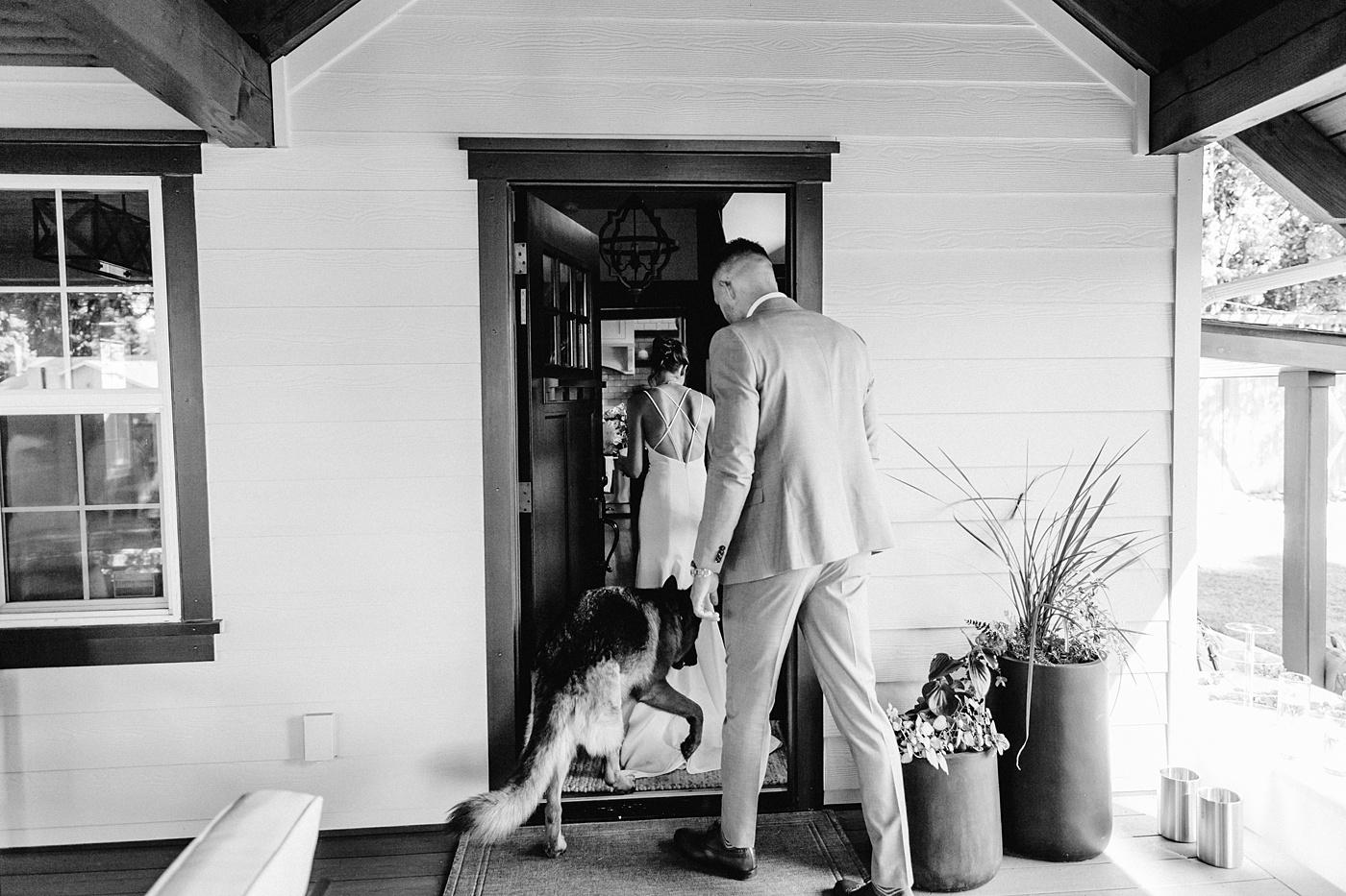portland elopement photographer photos at home intimate wedding